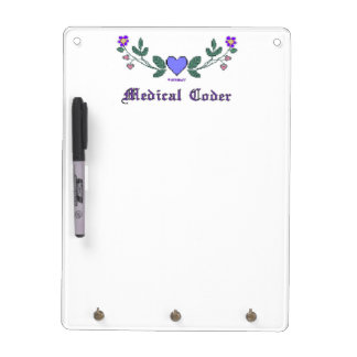 Medical Coder Blue Cross Stitch Print Dry Erase Boards