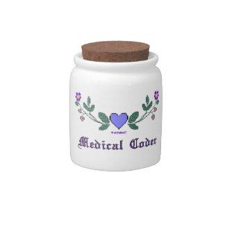 Medical Coder Blue CS Print Candy Jars
