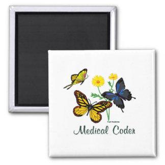 Medical Coder Butterflies Magnet