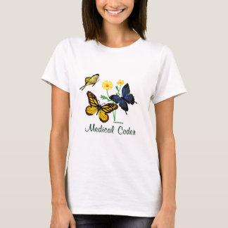 Medical Coder Butterflies T-Shirt