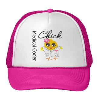 Medical Coder Chick Trucker Hat