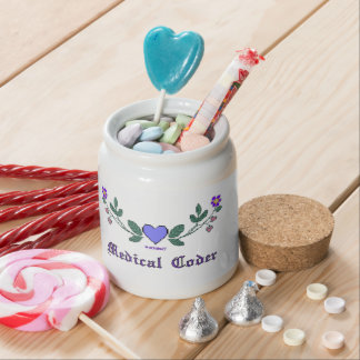 Medical Coder Cross Stitch Print Candy Dishes