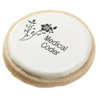 Medical Coder Elegance Round Shortbread Cookie