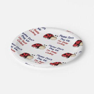 Medical Coder Ladybug2 Paper Plate