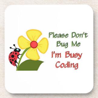 Medical Coder Ladybug Beverage Coaster