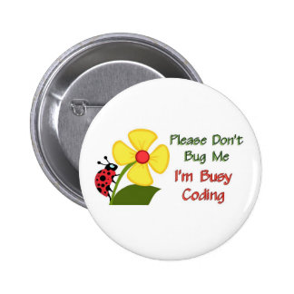 Medical Coder Ladybug Button
