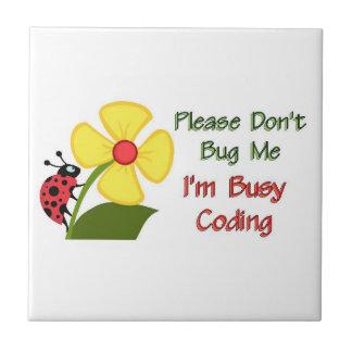 Medical Coder Ladybug Ceramic Tile