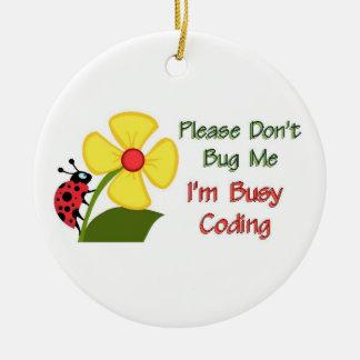 Medical Coder Ladybug Christmas Ornaments