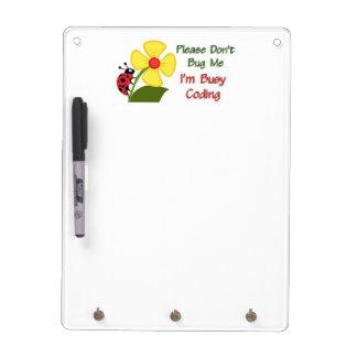 Medical Coder Ladybug Dry Erase Board