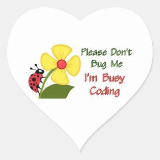 Medical Coder Ladybug Heart Sticker