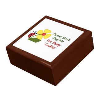 Medical Coder Ladybug Jewelry Box