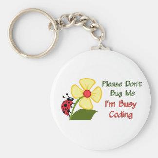Medical Coder Ladybug Basic Round Button Keychain
