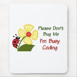 Medical Coder Ladybug Mouse Pad