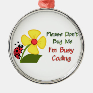 Medical Coder Ladybug Ornaments