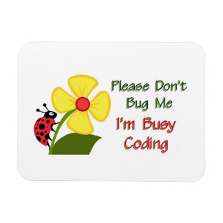 Medical Coder Ladybug Rectangular Photo Magnet