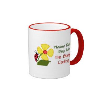 Medical Coder Ladybug Ringer Mug