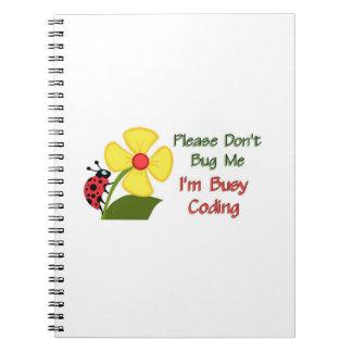 Medical Coder Ladybug Spiral Notebook