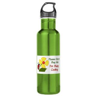 Medical Coder Ladybug Stainless Steel Water Bottle