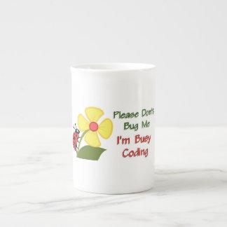 Medical Coder Ladybug Tea Cup