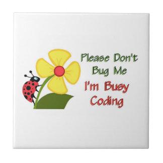 Medical Coder Ladybug Tile
