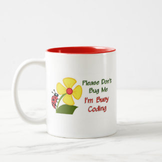 Medical Coder Ladybug Two-Tone Coffee Mug