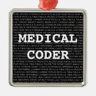 Medical Coder Medical Terminology Christmas Metal Ornament