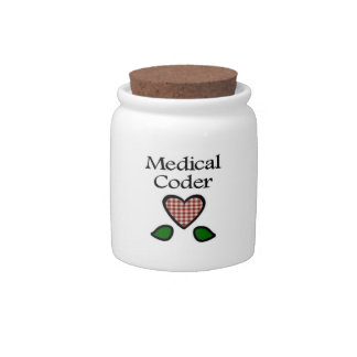 Medical Coder Red GH Candy Dishes