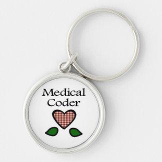 Medical Coder Red GH Keychain