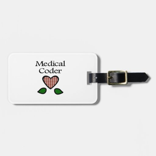 Medical Coder Red GH Travel Bag Tag