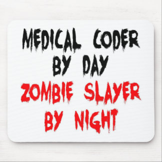 Medical Coder Zombie Slayer Mouse Pads