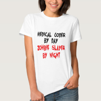 Medical Coder Zombie Slayer Shirt