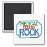 Medical Coders Rock 2 Inch Square Magnet