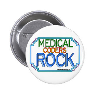 Medical Coders Rock Pinback Buttons