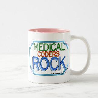 Medical Coders Rock Two-Tone Coffee Mug