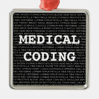 Medical Coding Medical Terminology Christmas Metal Ornament