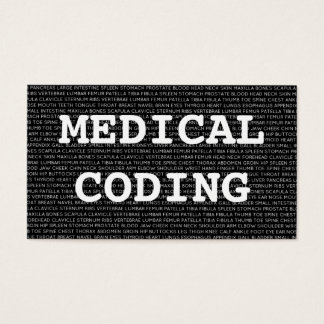 Medical Coding Medical Words Business Card