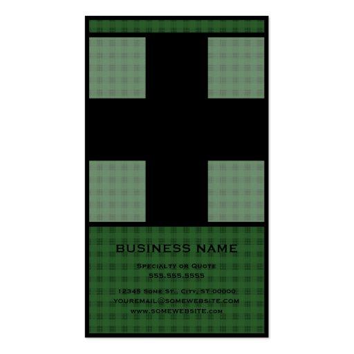 medical cross business card templates