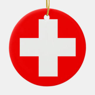Medical Cross Ceramic Ornament