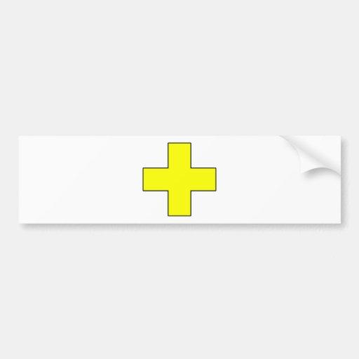 Medical Cross Medical Life Saving Guard Symbol Bumper Sticker