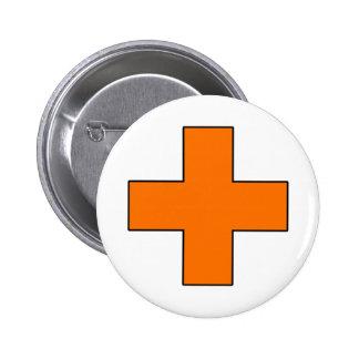 Medical Cross Medical Life Saving Guard Symbol Pinback Button