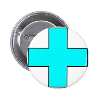 Medical Cross Medical Life Saving Guard Symbol Pinback Buttons