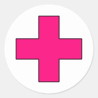 Medical Cross Medical Life Saving Guard Symbol Classic Round Sticker