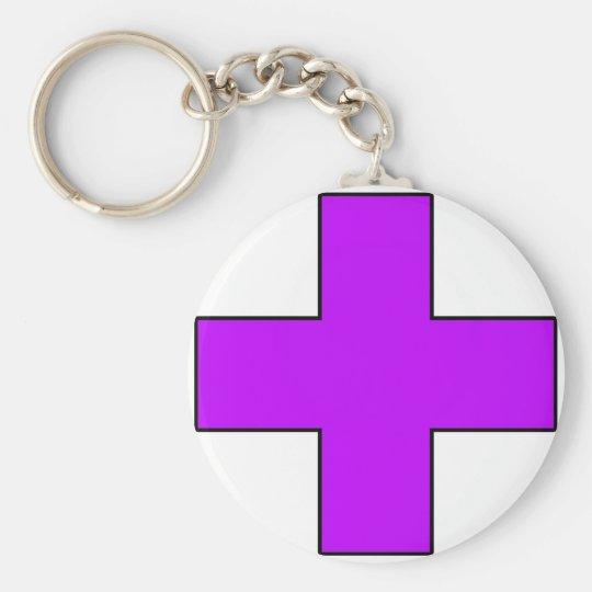 Medical Cross Medical Life Saving Guard Symbol Keychain