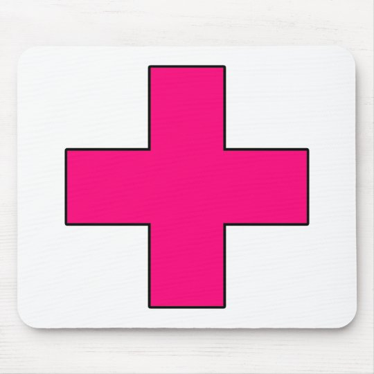 Medical Cross Medical Life Saving Guard Symbol Mouse Pad