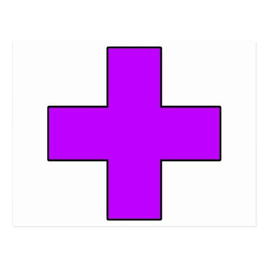 Medical Cross Medical Life Saving Guard Symbol Postcard