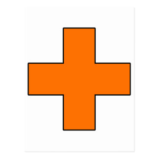 Medical Cross Medical Life Saving Guard Symbol Postcard