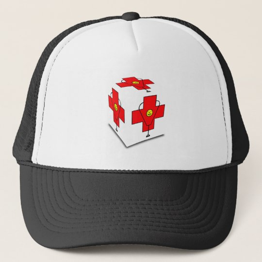 MEDICAL CUBE CROSS TRUCKER HAT
