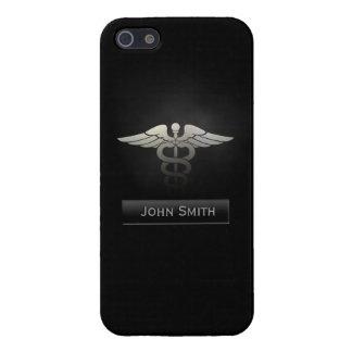 Medical Dark Metal with Custom Name iPhone 5 Case