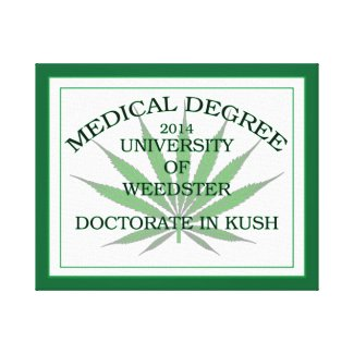 MEDICAL DEGREE 2K14 CANVAS PRINT