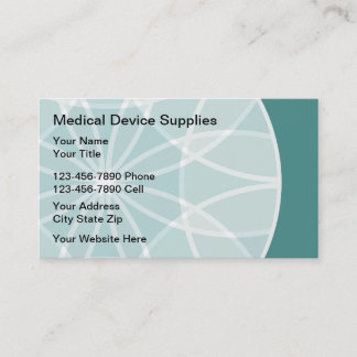 Medical Device Suupplies Business Card